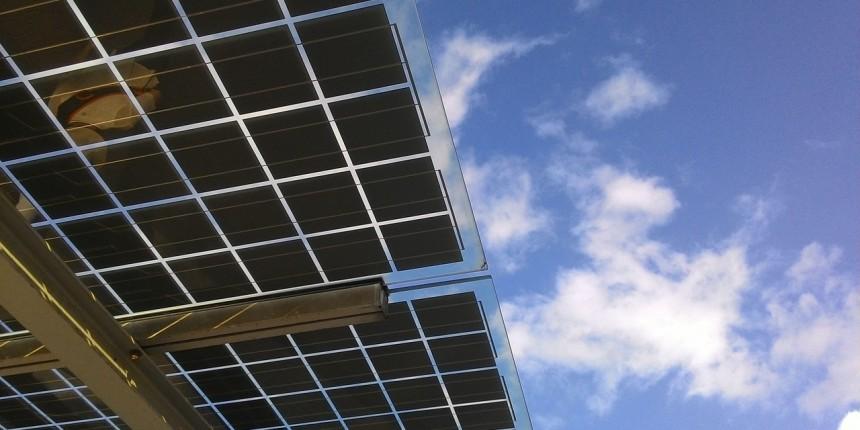 Solar panels + sky