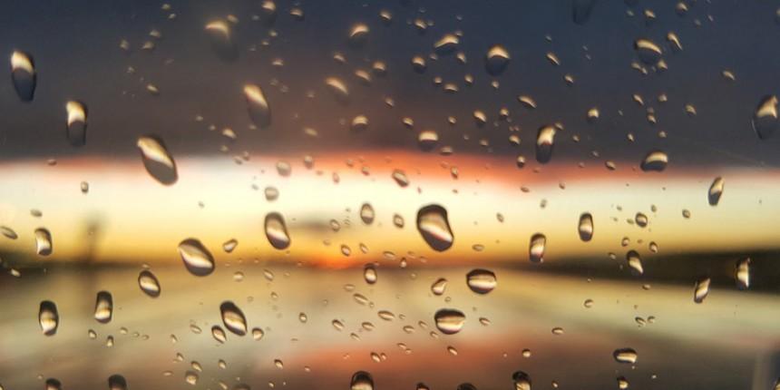 Rain, sun, window